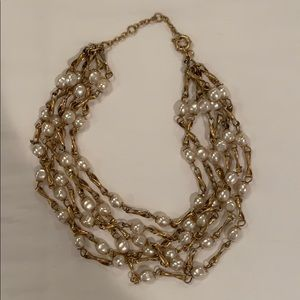 Jcrew Gold & Pearl Necklace